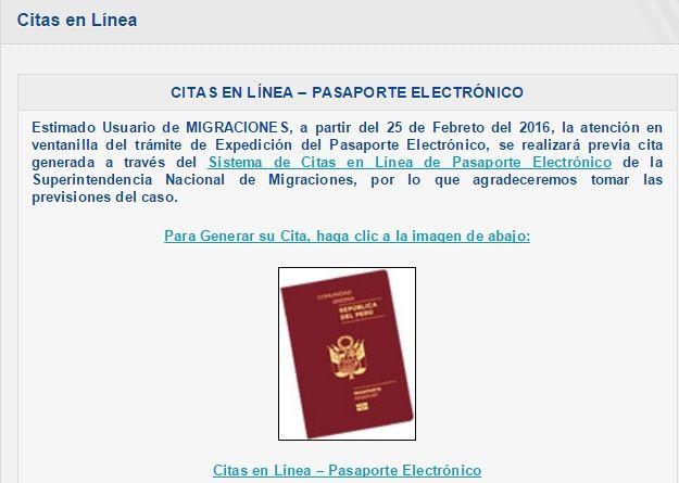 pasaporte electronico peru