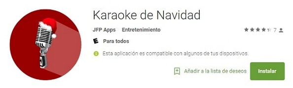 karaoke de navidad app