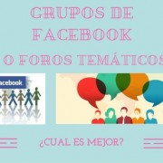 Grupos de Facebook o Foros