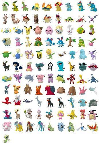 pokemon go segunda generacion
