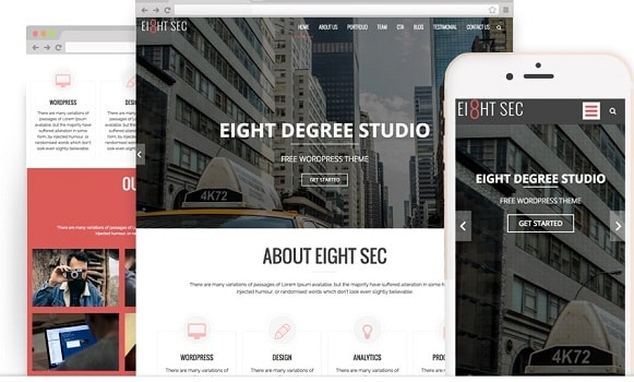 wordpress theme eight sec