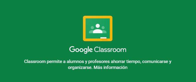 instituciones educativas google classroom