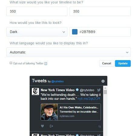 editar timeline twitter