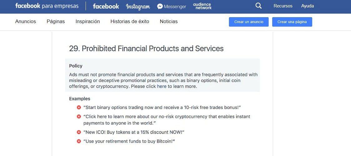 facebook publicidad icos