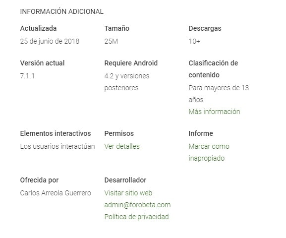 forobeta app android