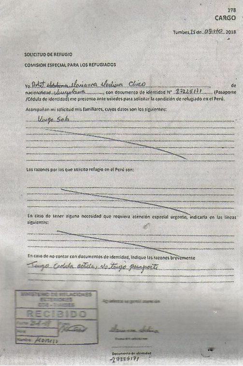 Documento Refugio Venezolanos