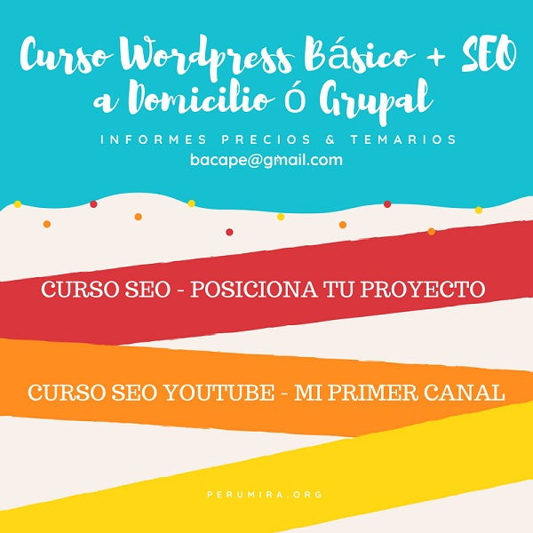 curso wordpress y seo domicilio lima